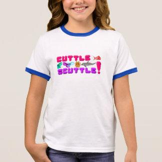 Cuttle Scuttle Girls Pixel Art Cuttlefish Shirt