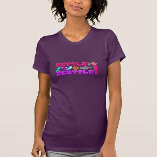 Cuttle Scuttle! Womens Pixel Cuttlefish Game Shirt