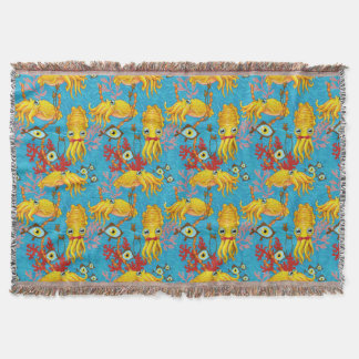 Cuttlefish Cuties Throw Blanket