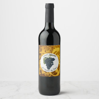 Cuvee Speciale Golden Dog Year Wine Label