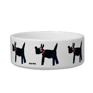 Cuvette noire de chien de Scotty par le tinctorial Écuelle Pour Chat