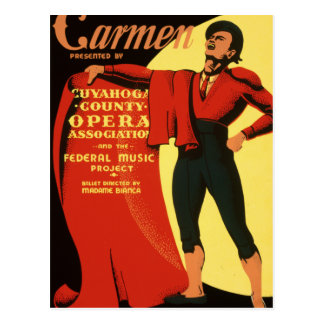 Cuyahoga County Opera presents Carmen Postcard