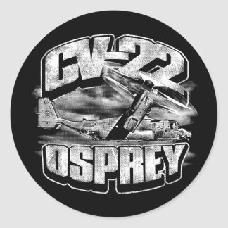 CV-22 OSPREY Classic Round Sticker Sticker