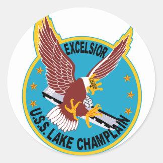 CV-39 USS LAKE CHAMPLAIN Multi-Purpose Aircraft Ca Classic Round Sticker