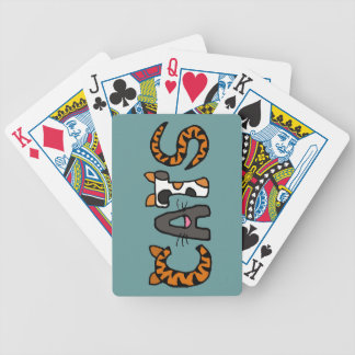 CV- Funny Cats Letters Playing Cards