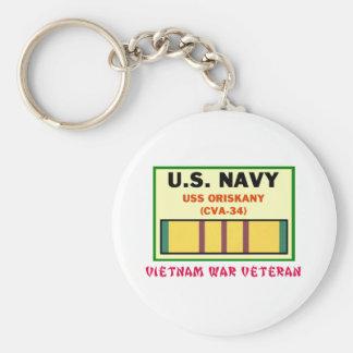 CVA-34 ORISKANY Vietnam War Vet Keychain