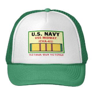 CVA-41 MIDWAY VIETNAM WAR VET TRUCKER HAT