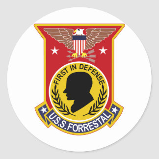 CVA-59 USS FORRESTAL Multi-Purpose Attack Aircraft Classic Round Sticker