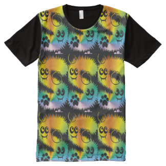CVAn0047 Fussy Monster Happy Party Goers All-Over-Print T-Shirt