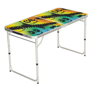 CVAn0047 Fussy Monster Happy Party Goers Beer Pong Table