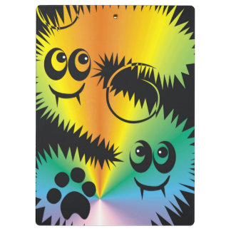 CVAn0047 Fussy Monster Happy Party Goers Clipboard