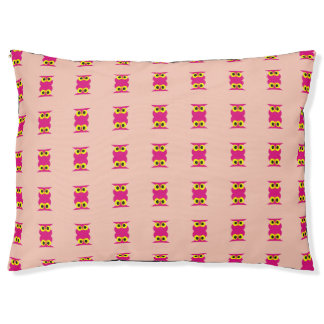 CVAn0051 Pink Owl Twins Large Dog Bed