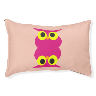 CVAn0051 Pink Owl Twins Small Dog Bed