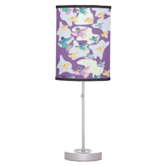 CVAn0060 Colorful and Cute Parrots In the air Table Lamp