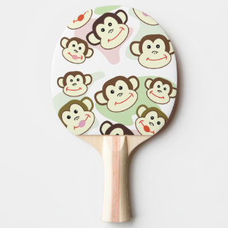 CVAn0063 Cute Smiling Whimsical Monkeys Ping Pong Paddle