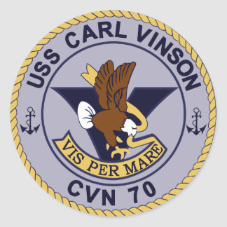 CVN-70 CARL VINSON Multi-Purpose Nuclear Classic Round Sticker