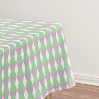 CVPA20020 Diamond and Triangles Geometric Green WH Tablecloth