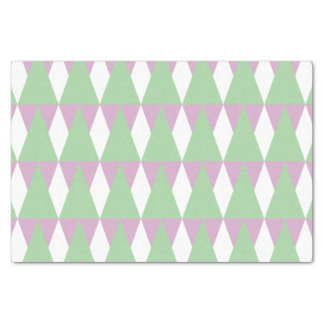 CVPA20020 Diamond and Triangles Geometric Green WH Tissue Paper