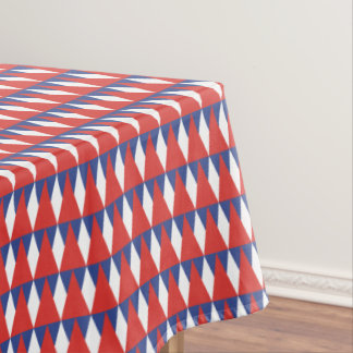 CVPA20022 Diamond Triangles Red White Blue Tablecloth