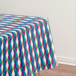 CVPA20025 Diamonds and Triangles Pink Green Blue P Tablecloth