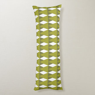 CVPA20026 Diamonds and Triangles Shades of Green.p Body Pillow