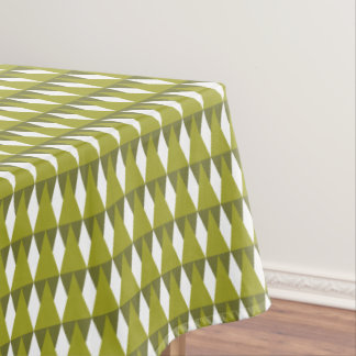 CVPA20026 Diamonds and Triangles Shades of Green.p Tablecloth