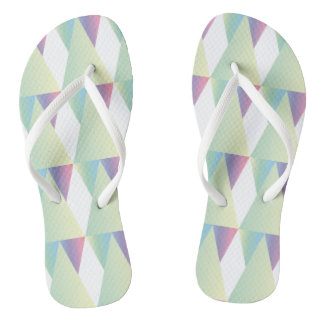 CVPA20028 Diamonds and Triangles Soft colors blue Flip Flops