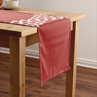 CVPA20031 Red Afternoon Bubbles Long Table Runner