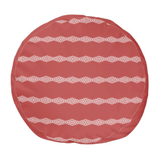 CVPA20031 Red Afternoon Bubbles Pouf
