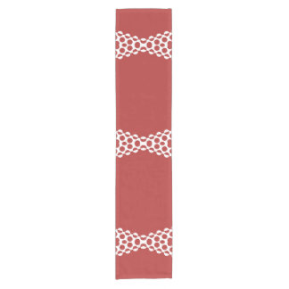 CVPA20031 Red Afternoon Bubbles Short Table Runner