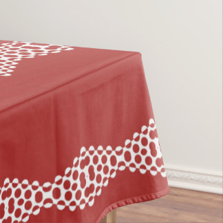 CVPA20031 Red Afternoon Bubbles Tablecloth