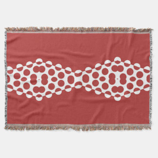 CVPA20031 Red Afternoon Bubbles Throw Blanket