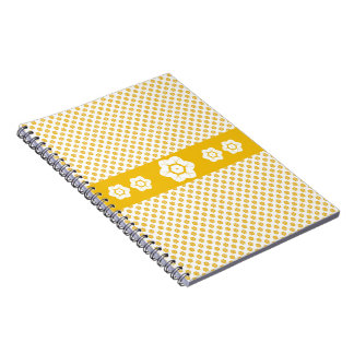 CVPA20043 Poppy yellow and white flower pattern Spiral Notebook