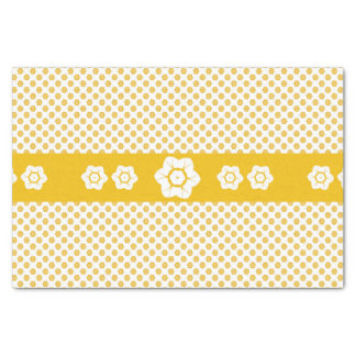 CVPA20043 Poppy yellow and white flower pattern Tissue Paper