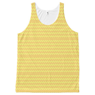 CVPA20044 orange and yellow chevron zig zag All-Over-Print Tank Top