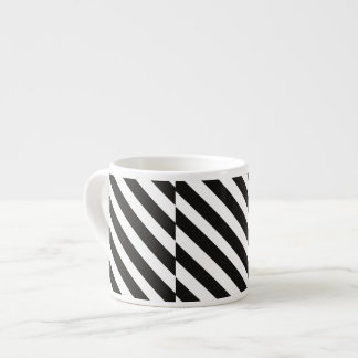 CVS0096 Black and White wide slanted angled stripe