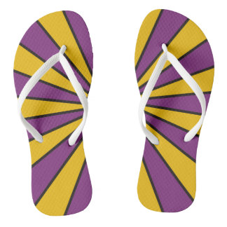 CVS0098 Purple and Poppy yellow rays Flip Flops