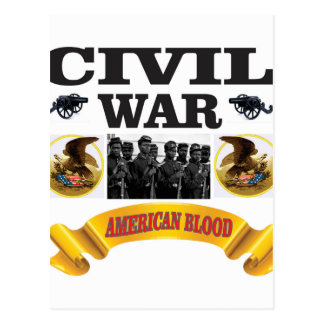 cw american blood red postcard