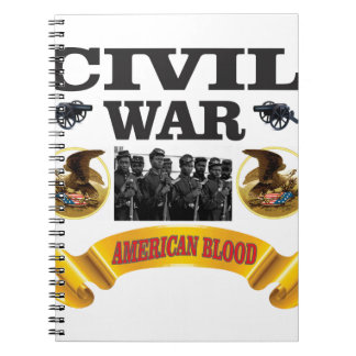 cw american blood red spiral notebook