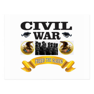 CW freed the slaves Postcard