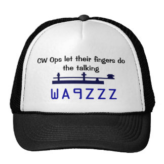 CW Ops let their fingers do the talking CAP Trucker Hat