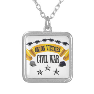 CW yellow banner art Silver Plated Necklace