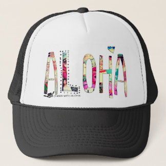 CWA ALOHA COLLAGE Trucker Trucker Hat
