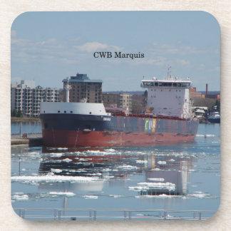 CWB Marquais set of 6 hard plastic coasters