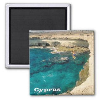 CY - Cyprus - Cape Greek Capo Greco Square Magnet