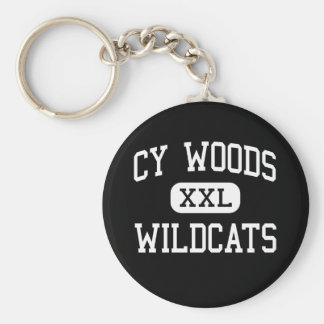 Cy Woods - Wildcats - High School - Cypress Texas Basic Round Button Keychain