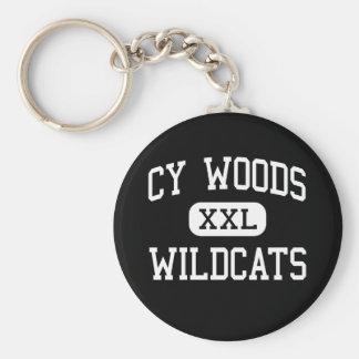 Cy Woods - Wildcats - High School - Cypress Texas Keychain
