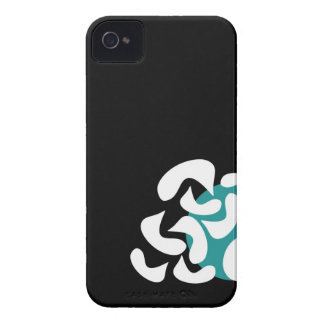 Cyan abstract art Case-Mate iPhone 4 cases