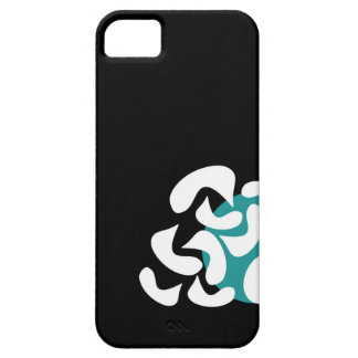 Cyan abstract art iPhone 5 case