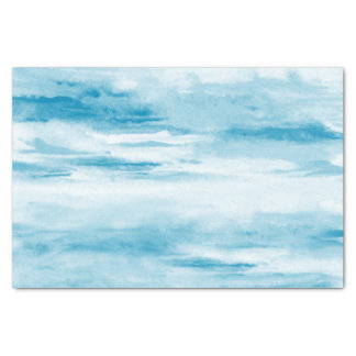 Cyan Abstract Tissue Paper